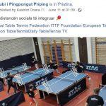 Sporti i pingpongut me distancen sociale te integruar