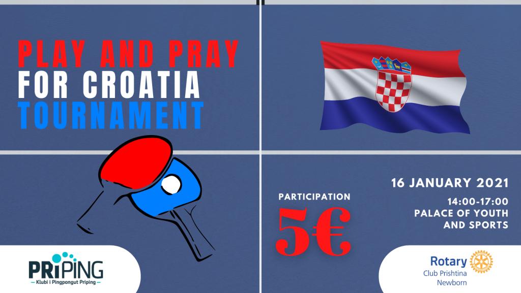 Priping organizon turne pingpongu për Kroacinë